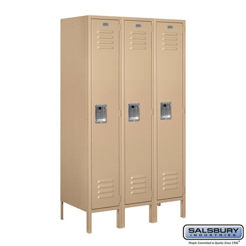 "Salsbury 12"" Wide Single Tier Standard 5 ft High x 18"" Deep Metal Locker 61358 - USA Safe And Vault"