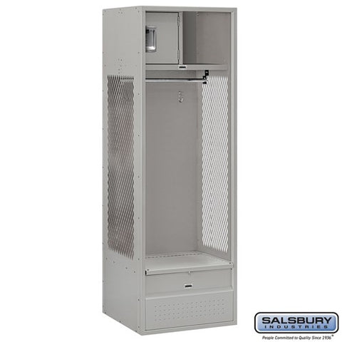 "Salsbury 24"" Wide Open Access 6 ft High 24"" Deep Metal Locker 70024 - USA Safe & Vault"