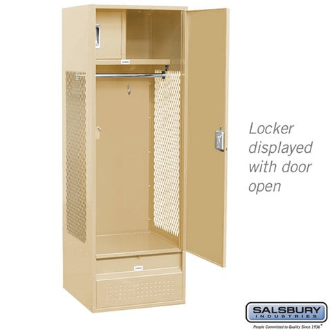 "Salsbury 24"" Wide Standard Gear 6 ft High x 24"" Deep Metal Locker 71024 - USA Safe And Vault"