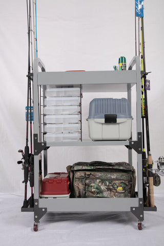 American Furniture Classics Tuff Stor Heavy-Duty Fishing Storage Cart 751