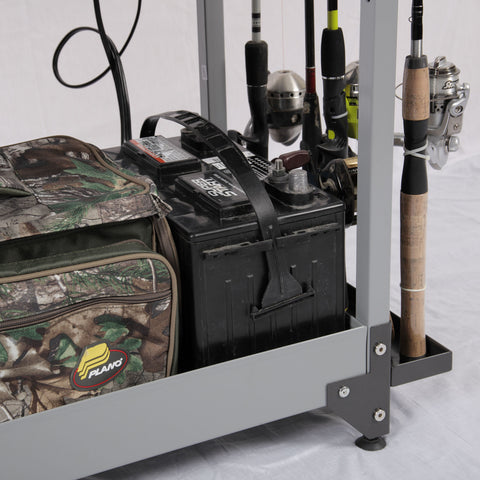 American Furniture Classics Tuff Stor Heavy-Duty Fishing Storage Cart 752
