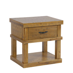 American Furniture Classics Wood End Table/Night Stand One drawer & Concealed Pistol Drawer 521