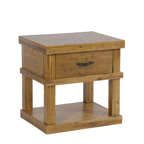 American Furniture Classics Wood End Table/Night Stand One drawer & Concealed Pistol Drawer 521 - USA Safe And Vault