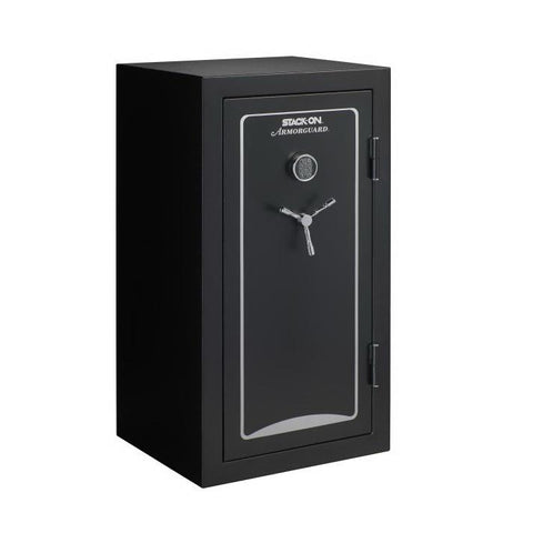 Stack-On Armorguard 30-Minute Fire 40-Gun Safe A-40-MB-E-S, Matte Black - USA Safe And Vault