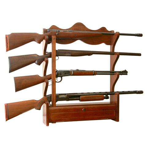 American Furniture Classics 4 Gun Wall Rack, - USA Safe and Vault