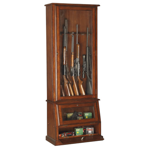 American Furniture Classics Slanted Base Gun Cabinet 898 - USA Safe And Vault