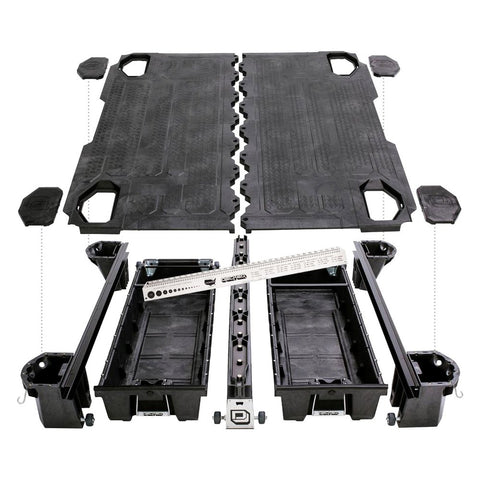 Decked Ford Aluminum Truck Bed Storage System F150 DF4 - USA Safe And Vault
