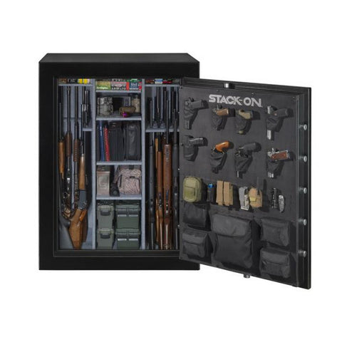 Stack-On Elite 69 Gun Capacity Fireproof Gun Safe E-69-MB-E-S - USA Safe & Vault
