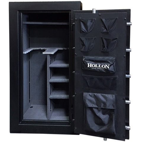Hollon 75-Minute Fire-Resistant Crescent Shield Gun Safe CS-24 Black - USA Safe And Vault