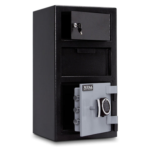Mesa Safe MFL2014E-OLK Robbery Depository Safe, Black - USA Safe & Vault