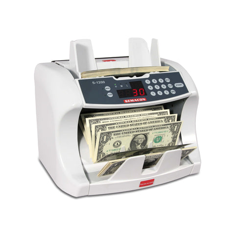 Semacon Table Top Bank Grade Currency Counter S-1200 Series - USA Safe And Vault