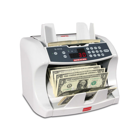 Semacon Table Top Bank Grade Currency Counter S-1200 Series - USA Safe & Vault