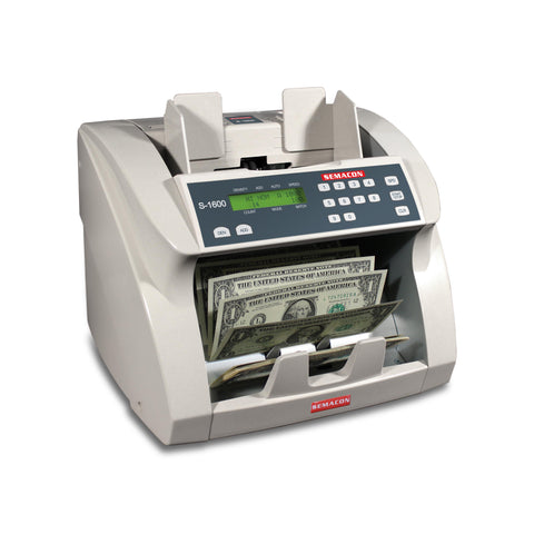Semacon Premium Bank Grade Currency Counter S-1600 Series - USA Safe & Vault