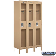 "Salsbury 15"" Wide Single Tier See-Through 6 ft High x 18"" Deep Metal Locker S-51368 - USA Safe And Vault"