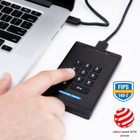 SecureDrive® KP Hardware Encrypted External Portable Drive - USA Safe And Vault