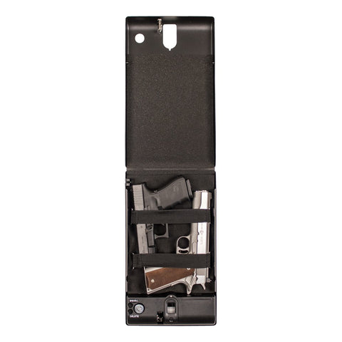 "Tracker SPS-04B - Small Pistol Safe - Biometric Lock - 12.6"" Length, - USA Safe and Vault"