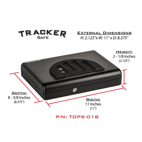 Tracker TOPS-01B - Top Opening Pistol Safe, - USA Safe and Vault