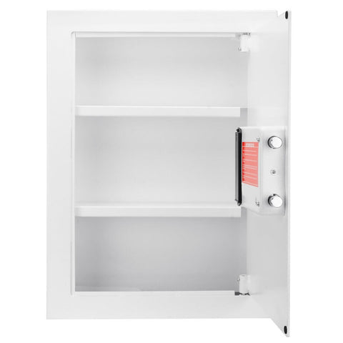 Barska White Biometric Wall Safe AX13030 - USA Safe And Vault