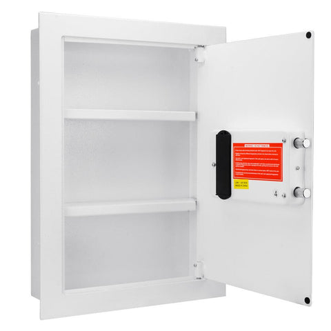 Barska White Biometric Wall Safe AX13030 - USA Safe & Vault