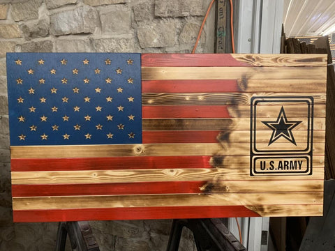 Army Coast Guard, Navy Airforce or Marine torn in Concealment Flag - USA Safe And Vault