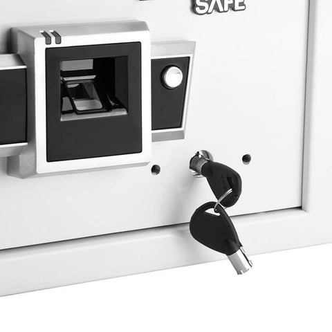 Barska Compact Biometric Safe BX-100 White AX12400 - USA Safe And Vault