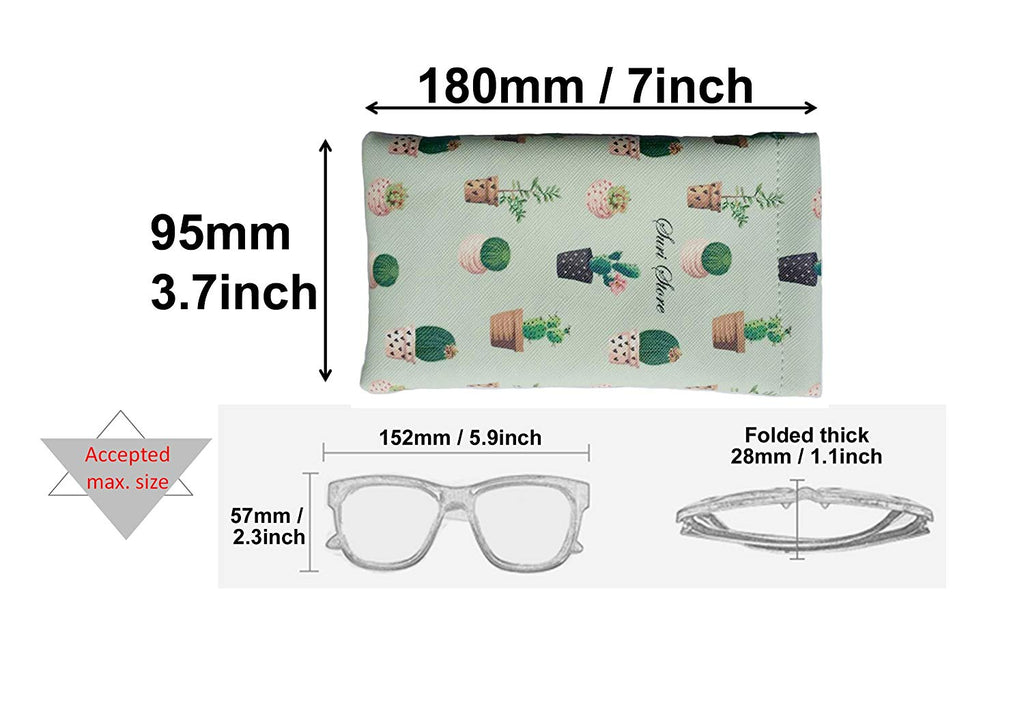 Suris Sunglasses Goggles Pouch with Lanyard Case PU Leather Eyeglass Holder Phone Pouch Coin Purse Card Mini-Bag