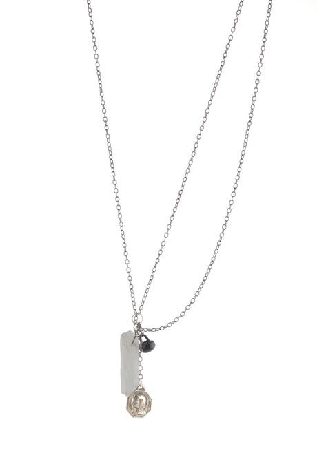Crystal quartz holy necklace