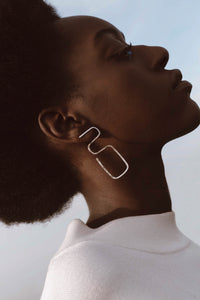 Frida hammered asymmetric earrings