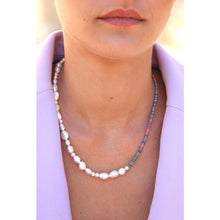 Load image into Gallery viewer, Asymmetric pearl necklace