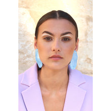 Load image into Gallery viewer, Blue wave earrings