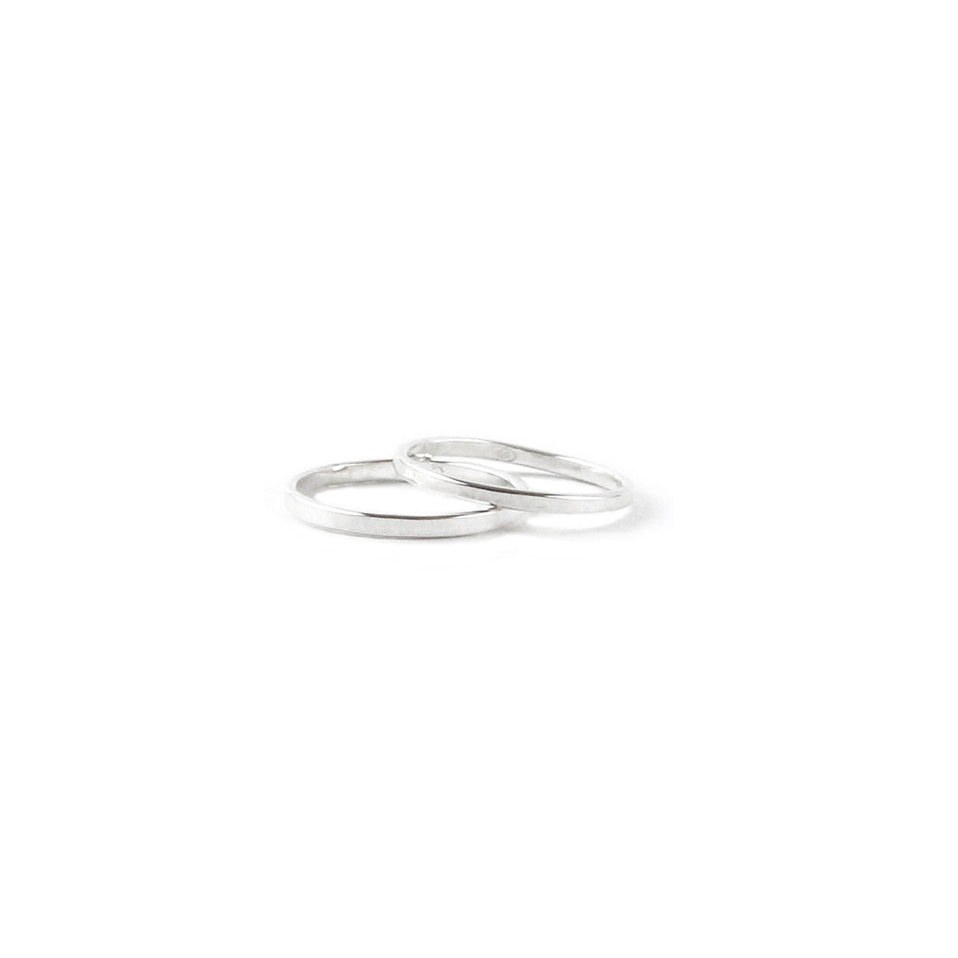 Duo knuckle silver rings
