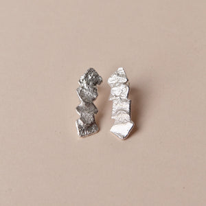 Melt wrinkle earrings, small
