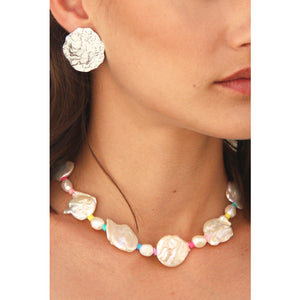 Pastel circus pearl necklace