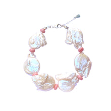 Load image into Gallery viewer, Pink keshi pearl bracelet