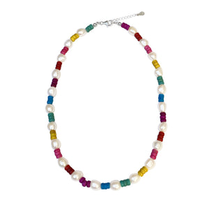 Rainbow baroque necklace