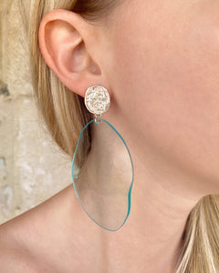 Turquoise reflection earrings
