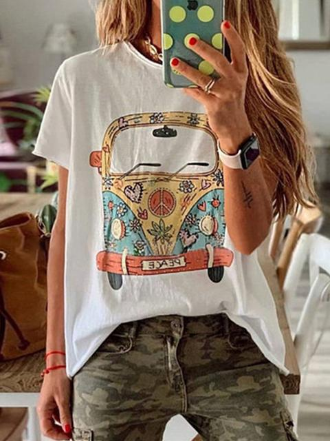 Graphic Printed Round Neck T-shirt