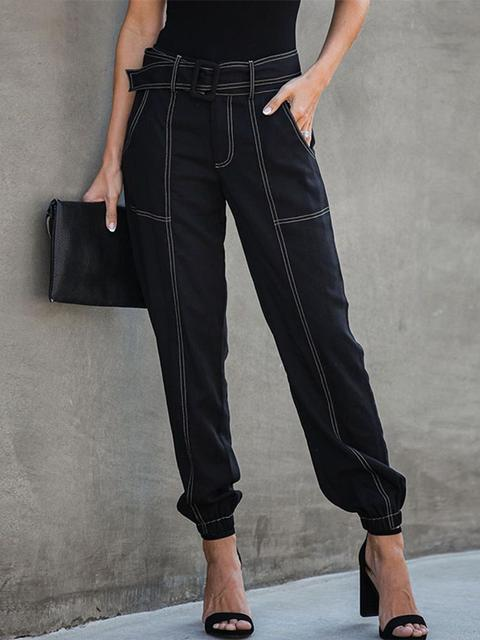Wide Legs Loose Slacks With Waistband