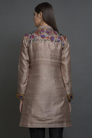 BROWN ROSE LONG JACKET