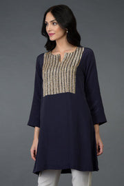 ECLIPSE BLUE TUNIC TOP