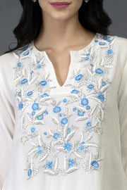 FLORAL WHITE TUNIC TOP