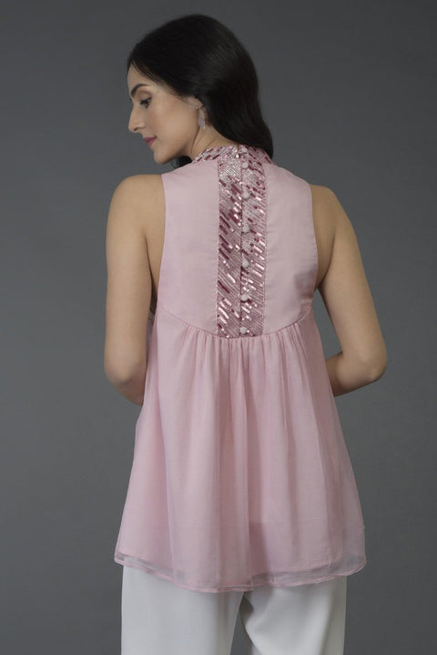 PRESSED ROSE TUNIC TOP