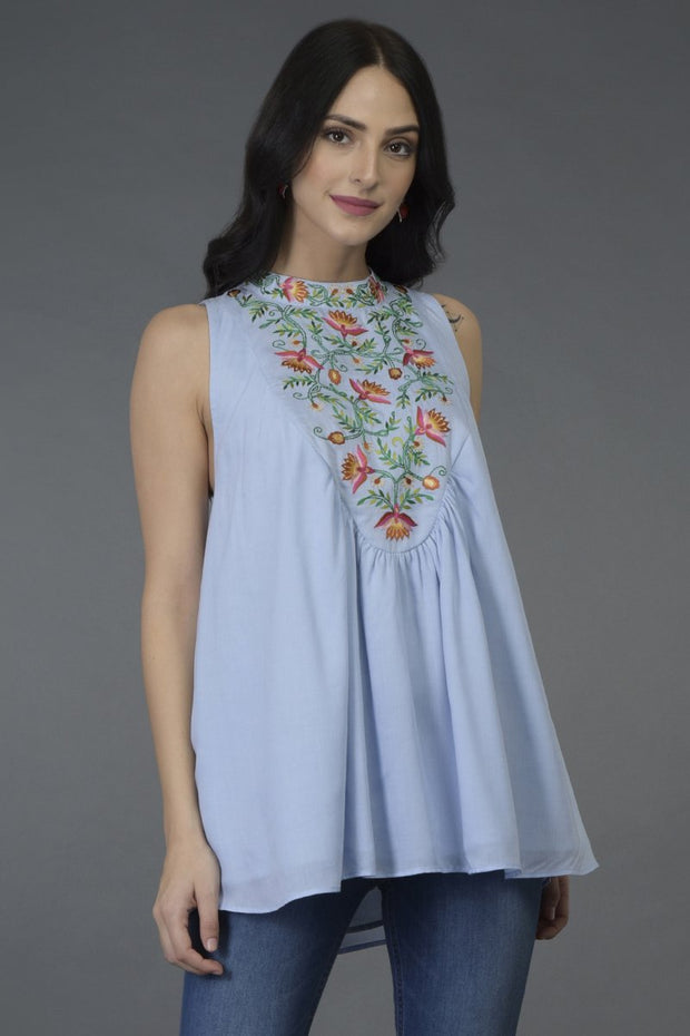 SKY NECK TUNIC TOP