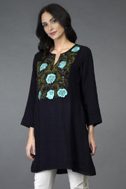 MIGNIGHT FLOWERS TUNIC TOP