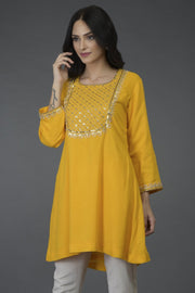 SUNLOW YELLOW TUNIC TOP