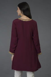 BURGUNDY GOLD TUNIC TOP