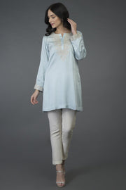 ROYAL SILVER TUNIC TOP