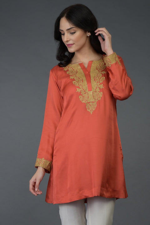 LIVING CORAL TUNIC TOP
