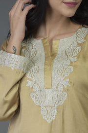ROYAL GOLD TUNIC TOP
