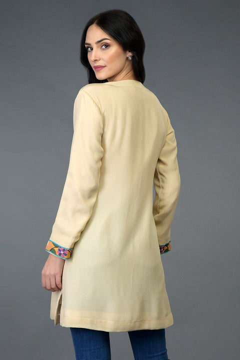 DEEP CREAM TUNIC TOP